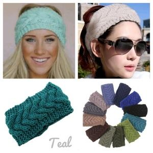 Accessories - Teal Knitted Headband